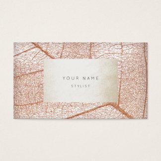Glam för pärla för elfenben för lövSkeletron Visitkort