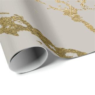 Glam för pastellfärgad krämig guld- marmor för presentpapper