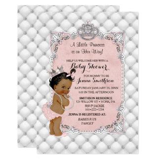 Glam för Princess flicka för pärladiamanter etnisk 12,7 X 17,8 Cm Inbjudningskort