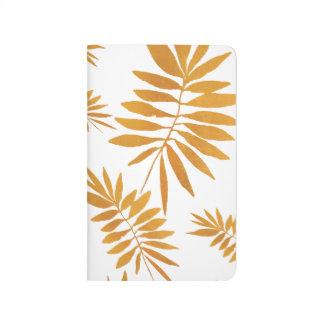 Glam guld- fern anteckningsbok
