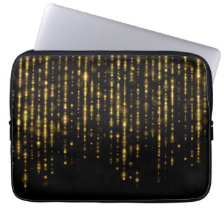 Glam guld- glitter & sparkles laptop fodral
