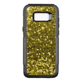 Glam guld- goldtone Fauxglittergult OtterBox Commuter Samsung Galaxy S8+ Skal