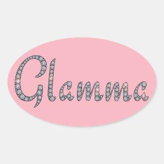 Glamma bling klistermärke