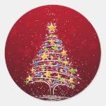 Glamorös jul runda klistermärken