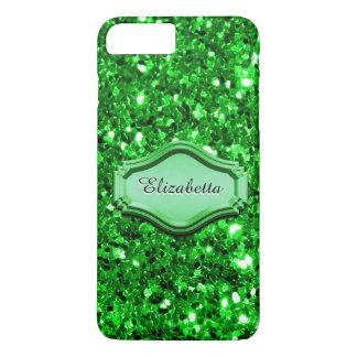 Glamoröst simulerat grönt Sparkly glitterfodral