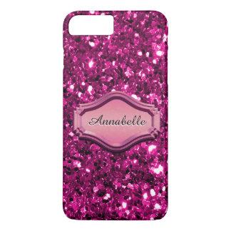 Glamoröst simulerat rosa Sparkly glitterfodral