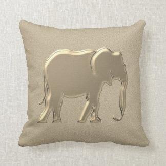 Glamouren för guld- Silhouette för elefant utföra Kudde