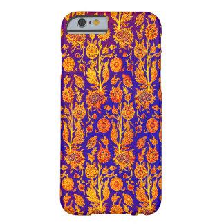 Glänsande blom- röd blåttmönsteriphone case barely there iPhone 6 skal