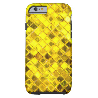 Glänsande guld- diamantmönster tough iPhone 6 case