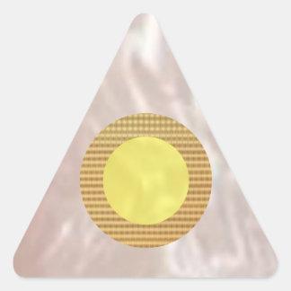 Glänsande kärlektrianglar triangelformat klistermärke