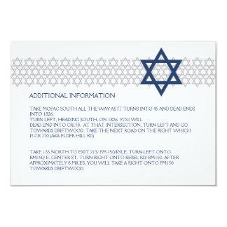 Glänsande kort för bilaga för stjärnapubMitzvah 8,9 X 12,7 Cm Inbjudningskort
