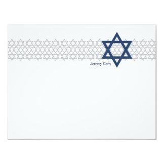 Glänsande kort för tack för stjärnapubMitzvah 10,8 X 14 Cm Inbjudningskort