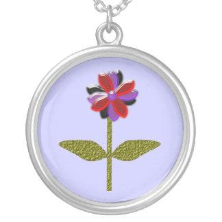 Glänsande plast- halsband för daisy
