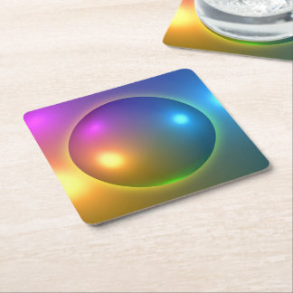 Glänsande Spheres Underlägg Papper Kvadrat