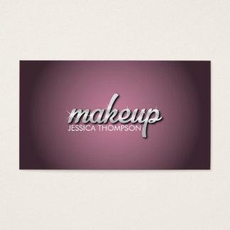 Glänsande text för makeup för visitkort