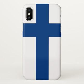 Glansig iphone case med flagga av Finland