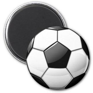 Glansig klassikerfotbollboll magnet