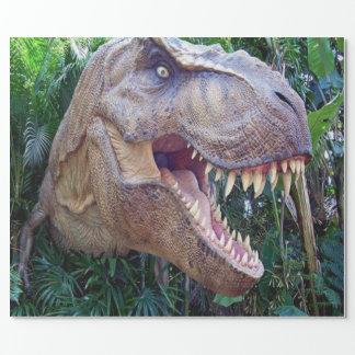 Glansig slående in papper för barn för Dinosaur Presentpapper