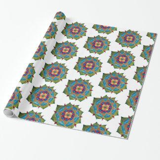 Glansigt slående in papper för Mandala Presentpapper