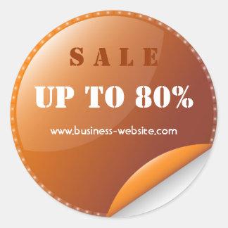 Glas- affärsklistermärke för stilfull modern Sale Runt Klistermärke