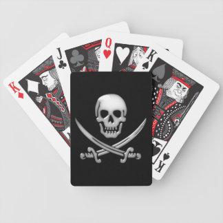 Glas- piratskalle- & svärdCrossbones Spelkort