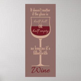 Glass affisch för rött vin