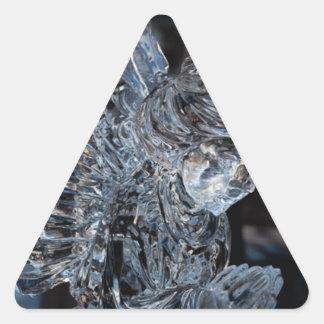 Glass be för ängel triangelformat klistermärke