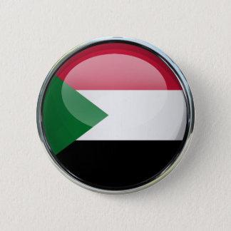 Glass boll för Sudan flagga Standard Knapp Rund 5.7 Cm
