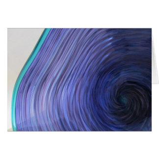 Glass bunke för purpurfärgad Aqua Hälsningskort