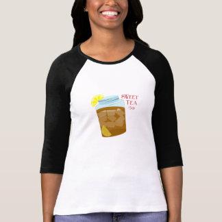 Glass burk av sötsak Iced Tea med citronkilar Tshirts