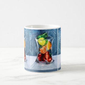Glass fruktmugg kaffemugg