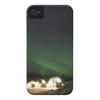 Glass Igloo under det nordliga ljuset iPhone 4 Case-Mate Skydd
