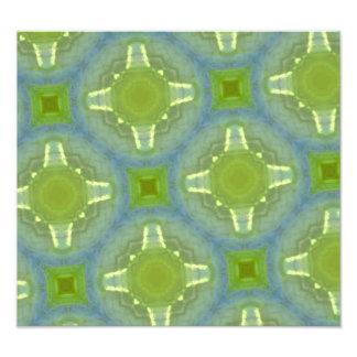 glass mönster för gröna blått fotografiska tryck