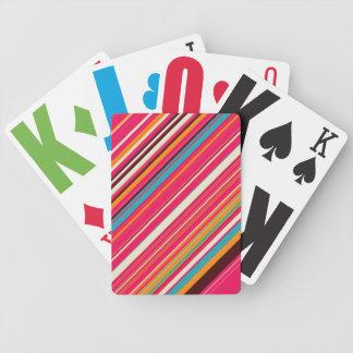Glass & strilar randiga leka kort spelkort