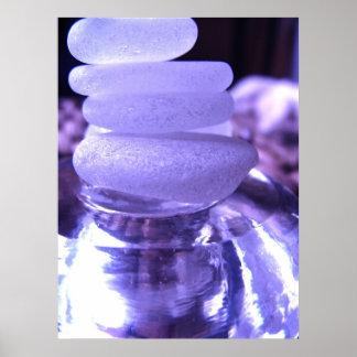Glass tryck för Amethyst hav