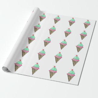 Glasskotte som slår in papper presentpapper