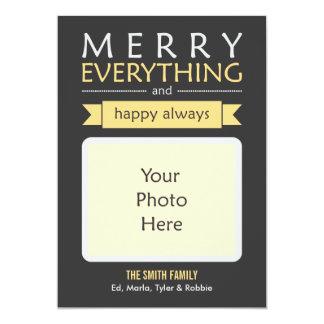 Glatt allt fotokort 12,7 x 17,8 cm inbjudningskort
