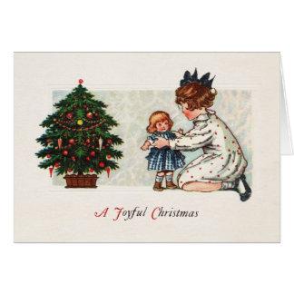 Glatt jul - vintage hälsningskort