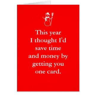 Glatt kort för Birthmas December julfödelsedag
