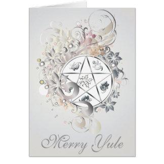 Glatt kort för Yule PentagramCameo - 3