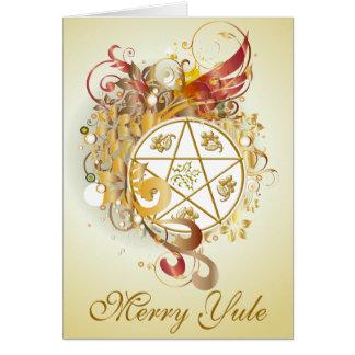 Glatt kort för Yule PentagramCameo - 4