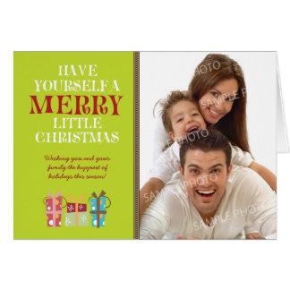 … Glatt lite julhelgdagkort (limefrukt) Hälsningskort