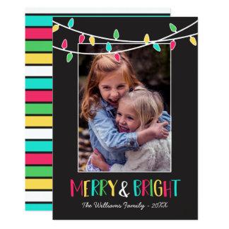 Glatt & ljust - färgrikt stränga ljus - foto 12,7 x 17,8 cm inbjudningskort