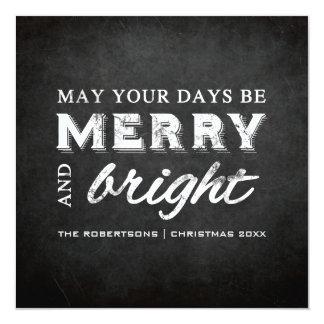 Glatt & ljust - lantlig svart tavla för jul fyrkantigt 13,3 cm inbjudningskort