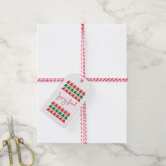 Glatt märkre för julönskemålgåva presentetikett