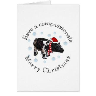 Glatt och CompassionateChristmas Hälsningskort