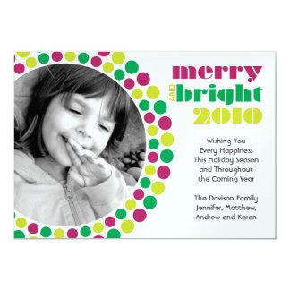Glatt och ljust fotokort för helgdag 2010 12,7 x 17,8 cm inbjudningskort