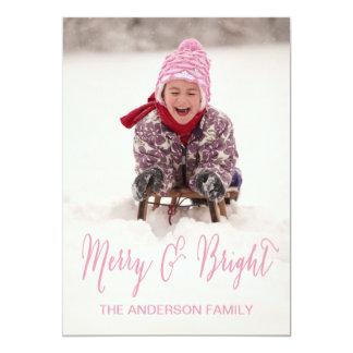 Glatt och ljust kort för | helgdagfoto 12,7 x 17,8 cm inbjudningskort