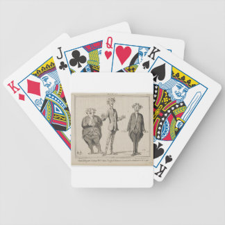 Glatt sång som utförs av M. Cobden Honore Daumier Spelkort
