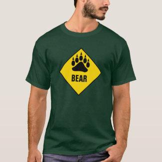 Glatt vägmärke för gult för björnbjörntass tee